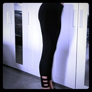 Rbx black leggings with cage cutout